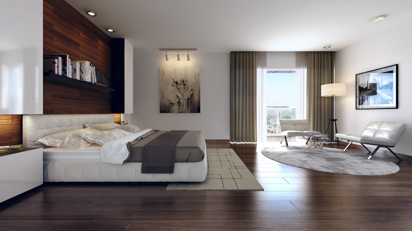 Modern bedroom design ideas for rooms of any size for Wood flooring for bedrooms