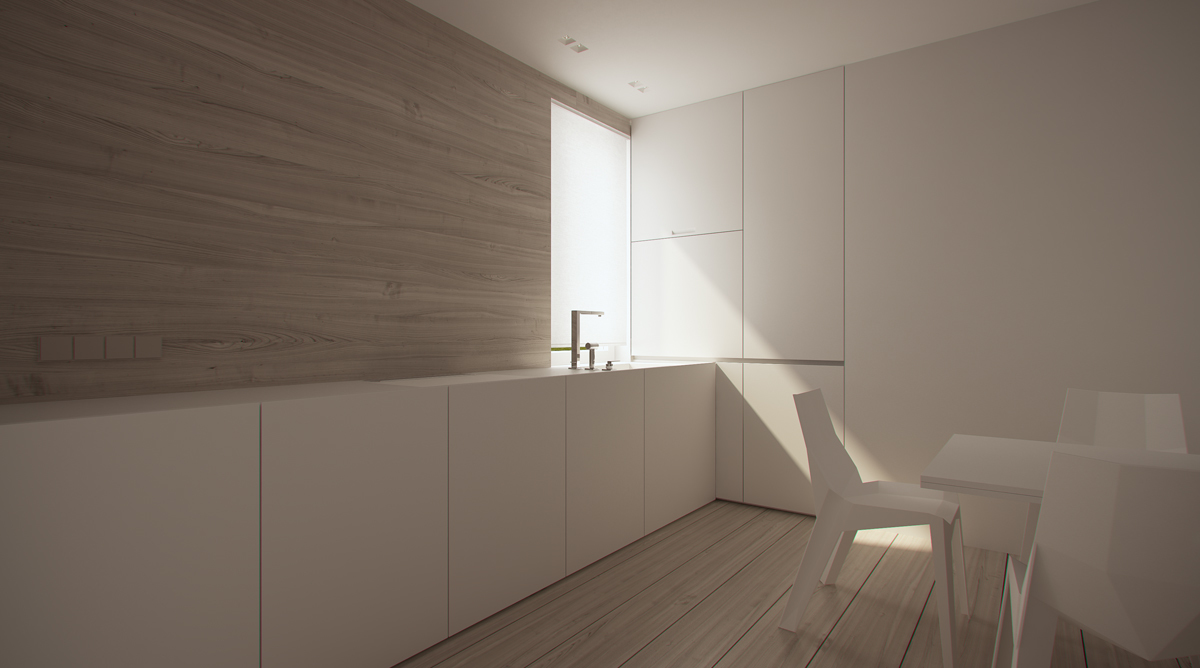 Stark sharp minimalistic interiors by oporski architektura for Design minimal