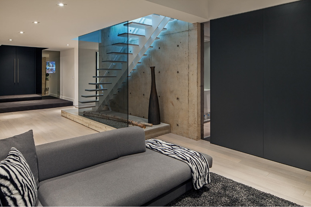 Gray Sofa - Ultra sleek private home with incredible architecture