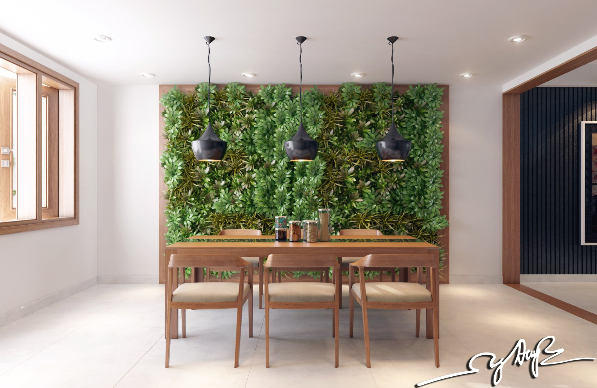 interior design close to nature rich wood themes and indoor vertical gardens - Inside Wall Design