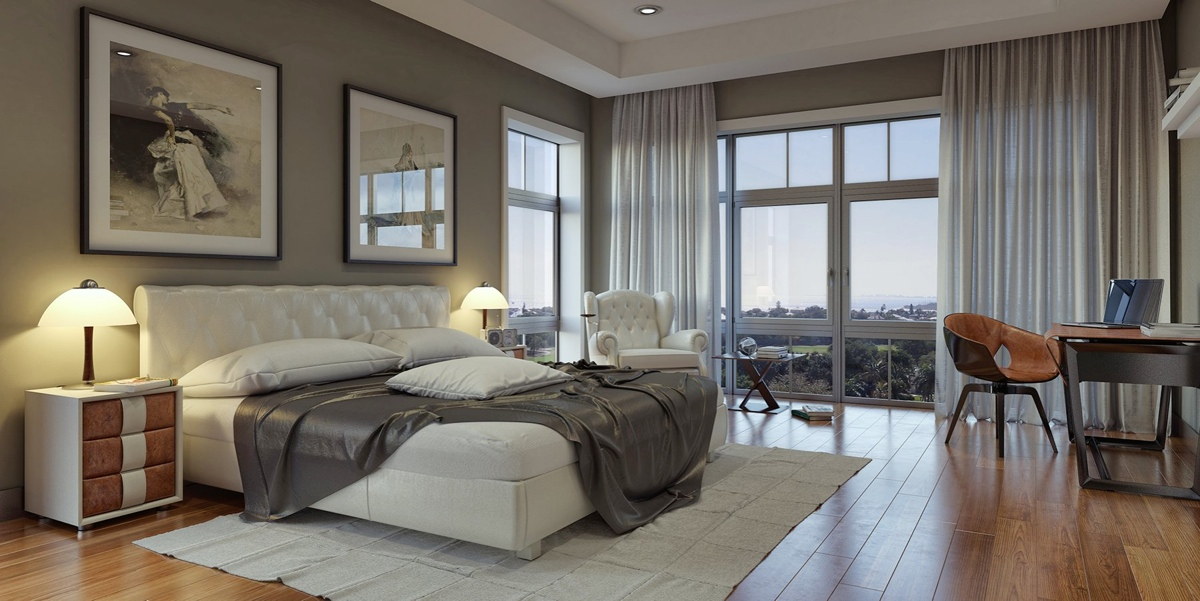 Modern bedroom design ideas for rooms of any size for Beautiful bed room