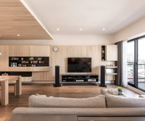 ... A Modern Apartment Celebrates The Look Of Natural Wood