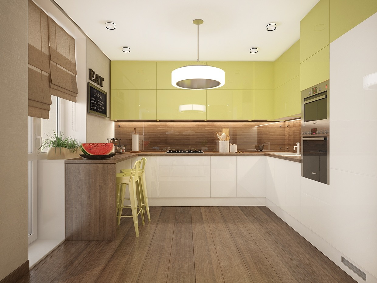 lime green kitchen  Interior Design Ideas