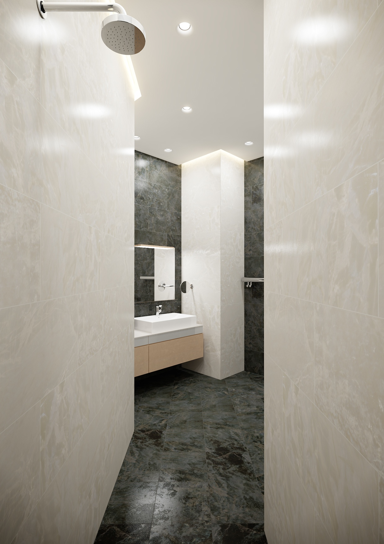 Marble Bathroom Decor - A stylish apartment with classic design features