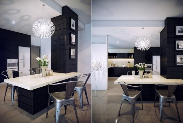 This built in dining area is a perfect solution for a small space but still manages to be stylish.
