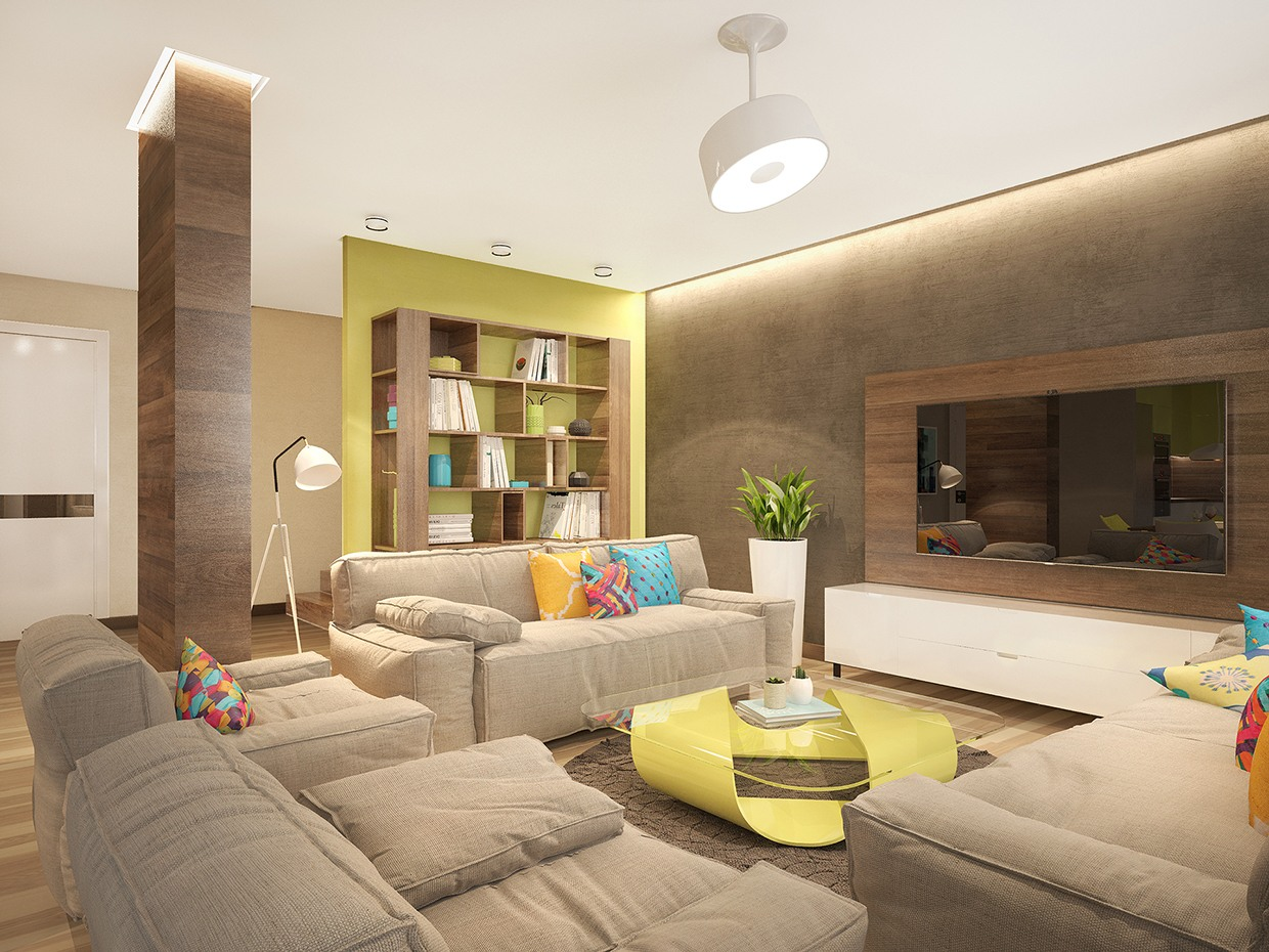 Stylish family home features bright tropical colors - Lumiere salon ...