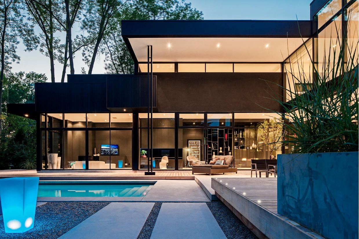 Ultra sleek private home with incredible architecture for Modern beautiful house