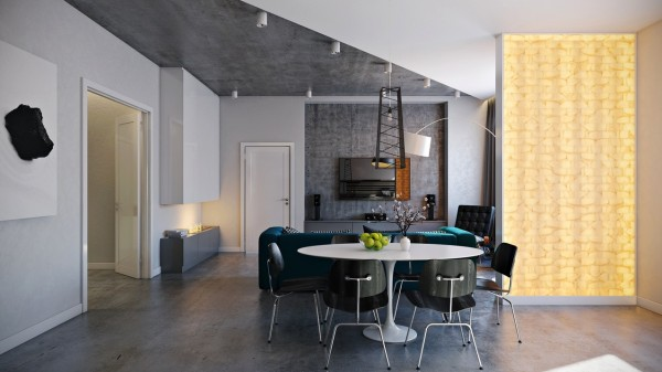 Even without the space of a huge loft or massive house, this small apartment dining area manages to be chic and comfortable.