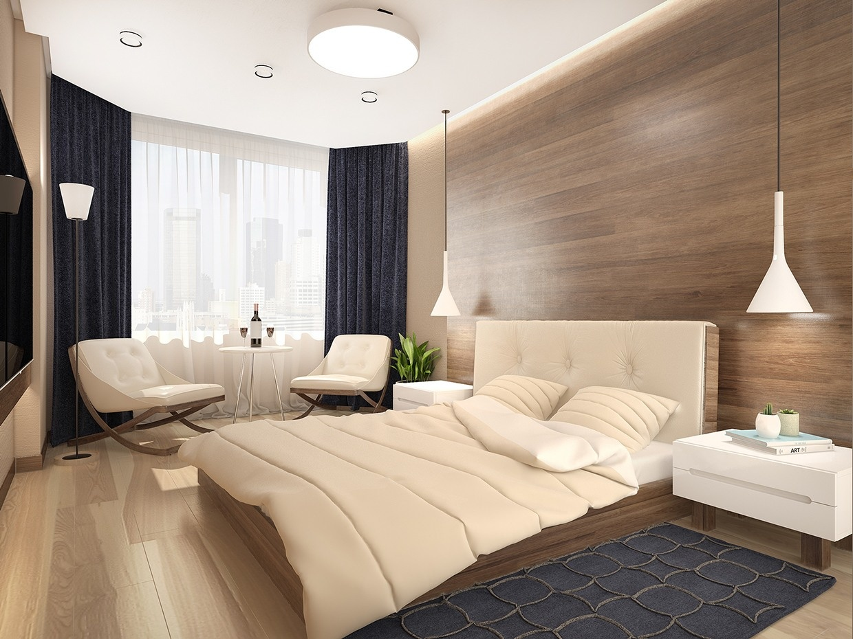 Modern wood paneling interior design ideas for Modern wooden bedroom designs
