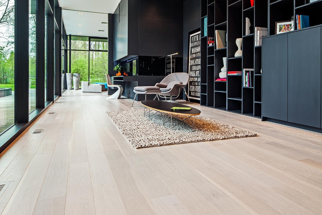 Oatmeal Area Rug - Ultra sleek private home with incredible architecture