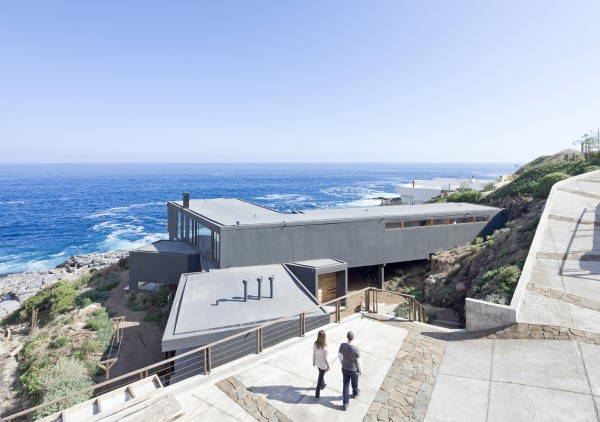 This view from above the house itself gives just a slice of the sweeping views of the Pacific the home offers.