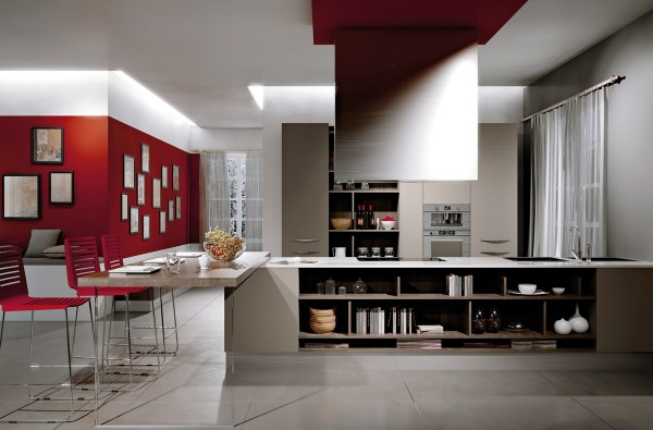 Shocks of red bring life into this modern option.