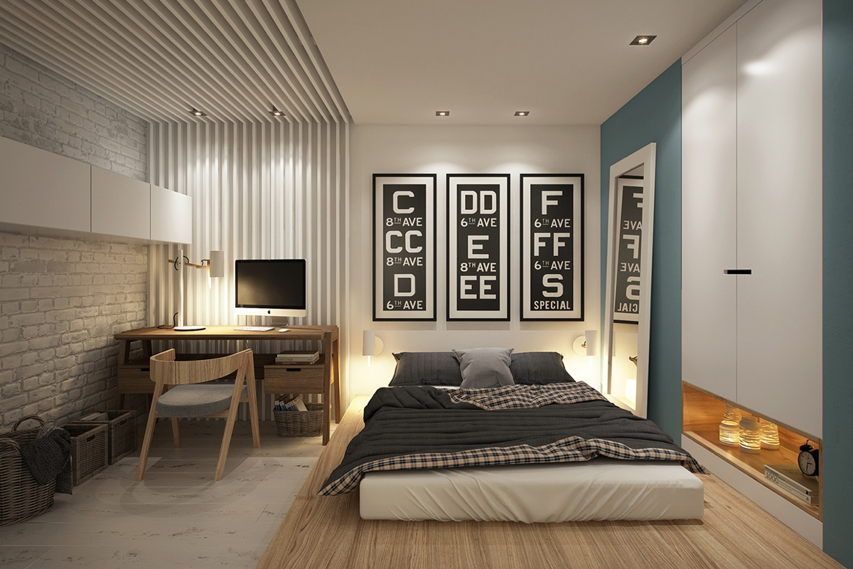 3 beautiful homes under 500 square feet - Interior bedroom design ...