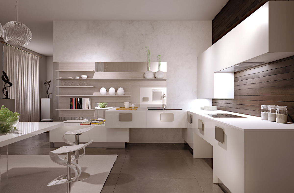gorgeously minimal kitchens with perfect organization Modern Minimalist Kitchen Interior Design