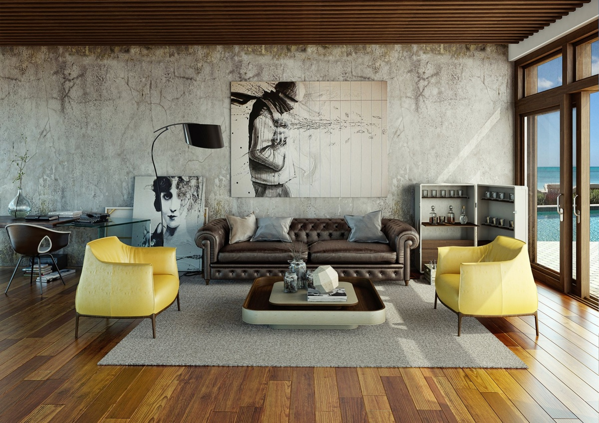 Awesomely stylish urban living rooms for Idee deco retro chic