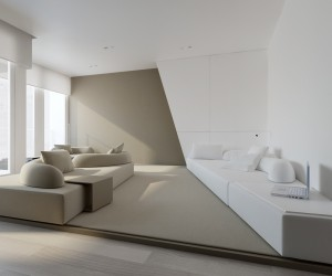 The first home is a spacious place in Warsaw with plenty of sunlight.