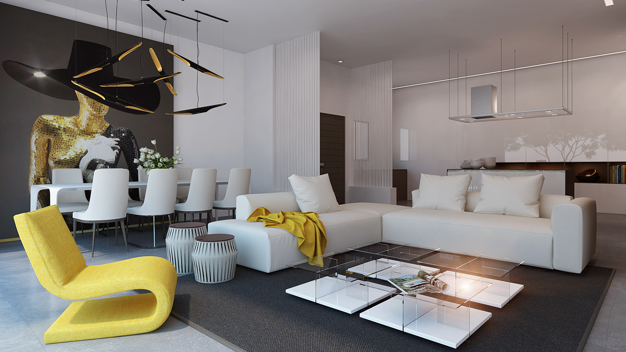 Living Yellow : Say Yes to Yellow: 4 Apartments That Flaunt Yellow Accents