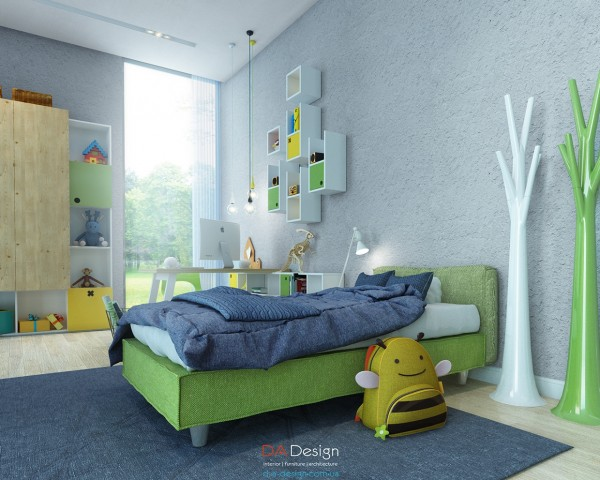 The green color scheme is one that's easy to update as a child ages.