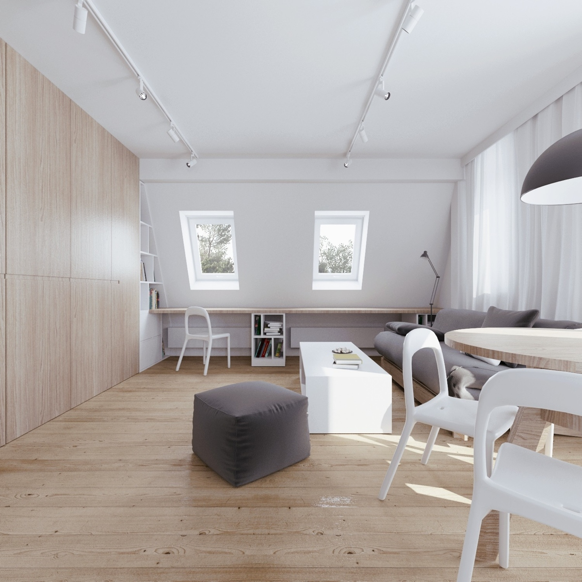 Attic Apartment With Clever Design Features Includes Floor Plans