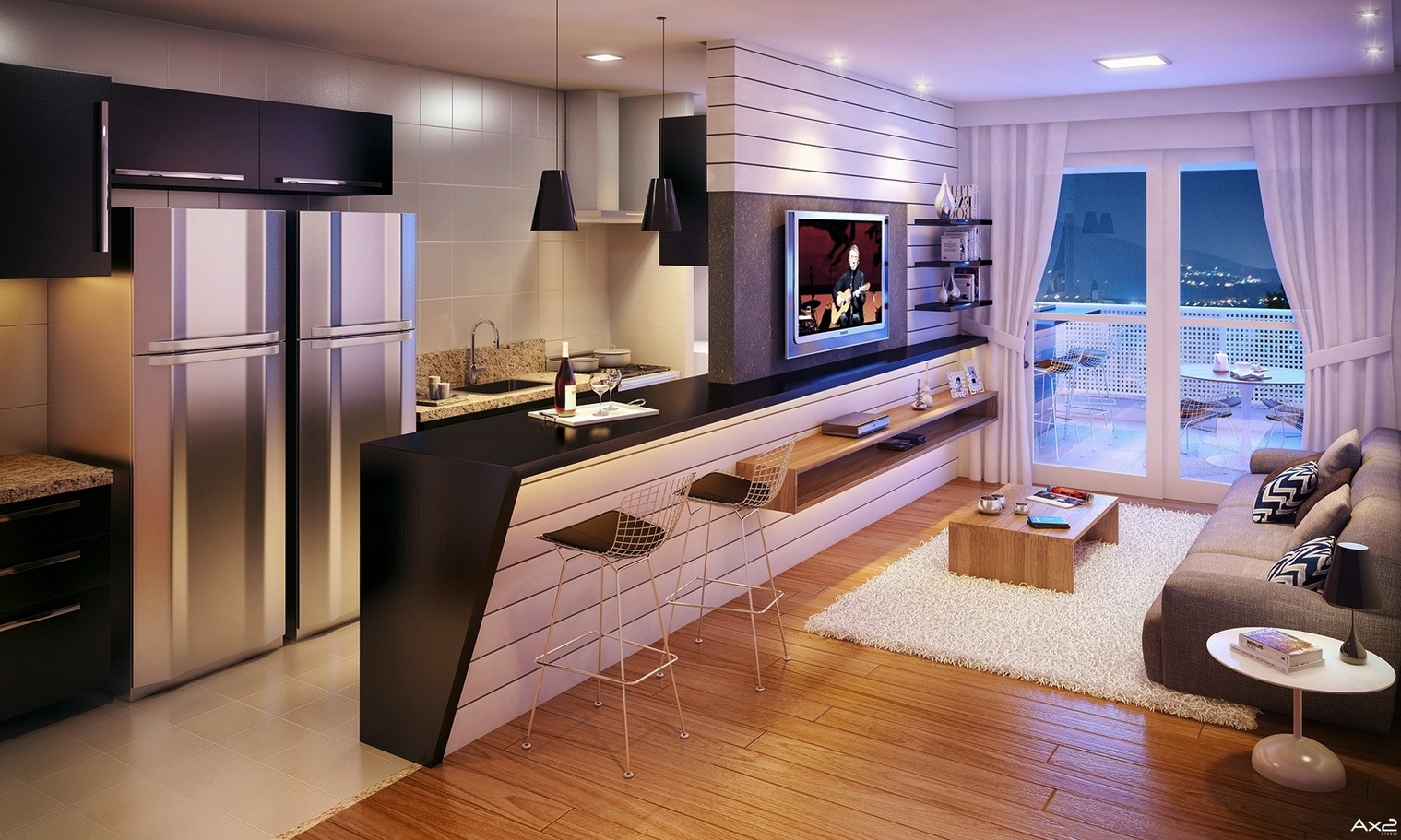 Apartment Open Kitchen Design