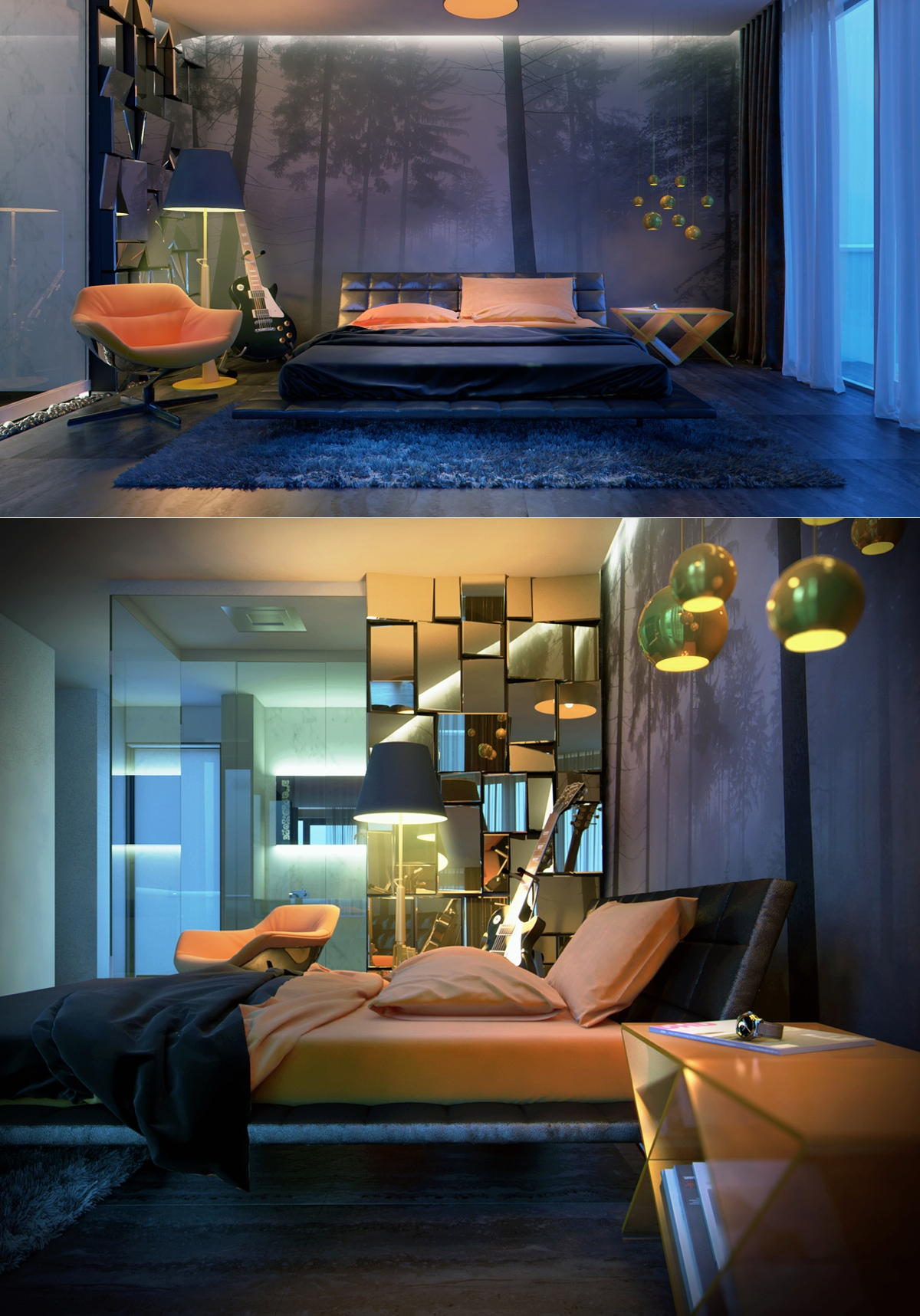 Bedroom Ideas Quirky sleek bedrooms with cool, clean lines