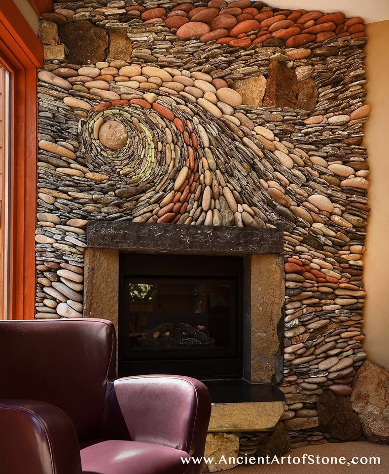 Beautiful stone art interior design ideas for Stone wall art