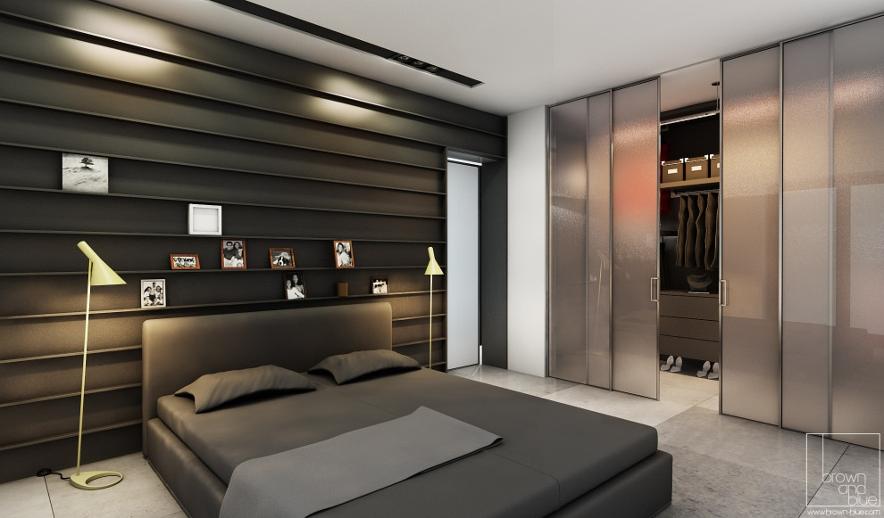 Stylish bedroom designs with beautiful creative details for Photo de chambre adulte moderne