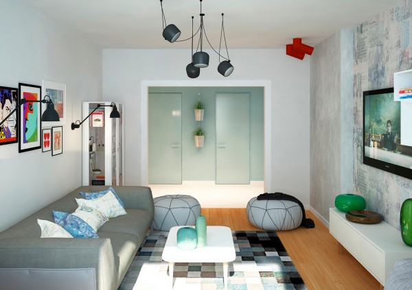 The second space from Mooseberry is more of a traditional apartment (meaning it actually has doors on its bathroom).