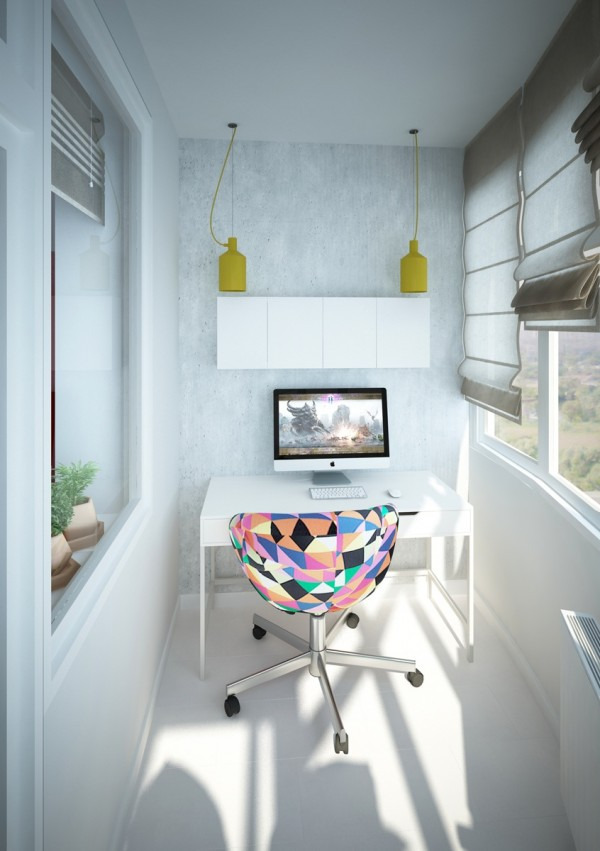 A tucked away home office space is free from distractions, but not from style.