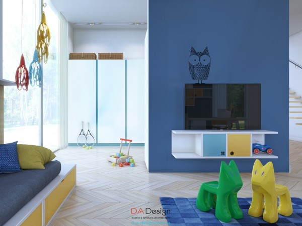 Details like an adorable owl decal certainly make this a kid's room, but do so in a sophisticated way.
