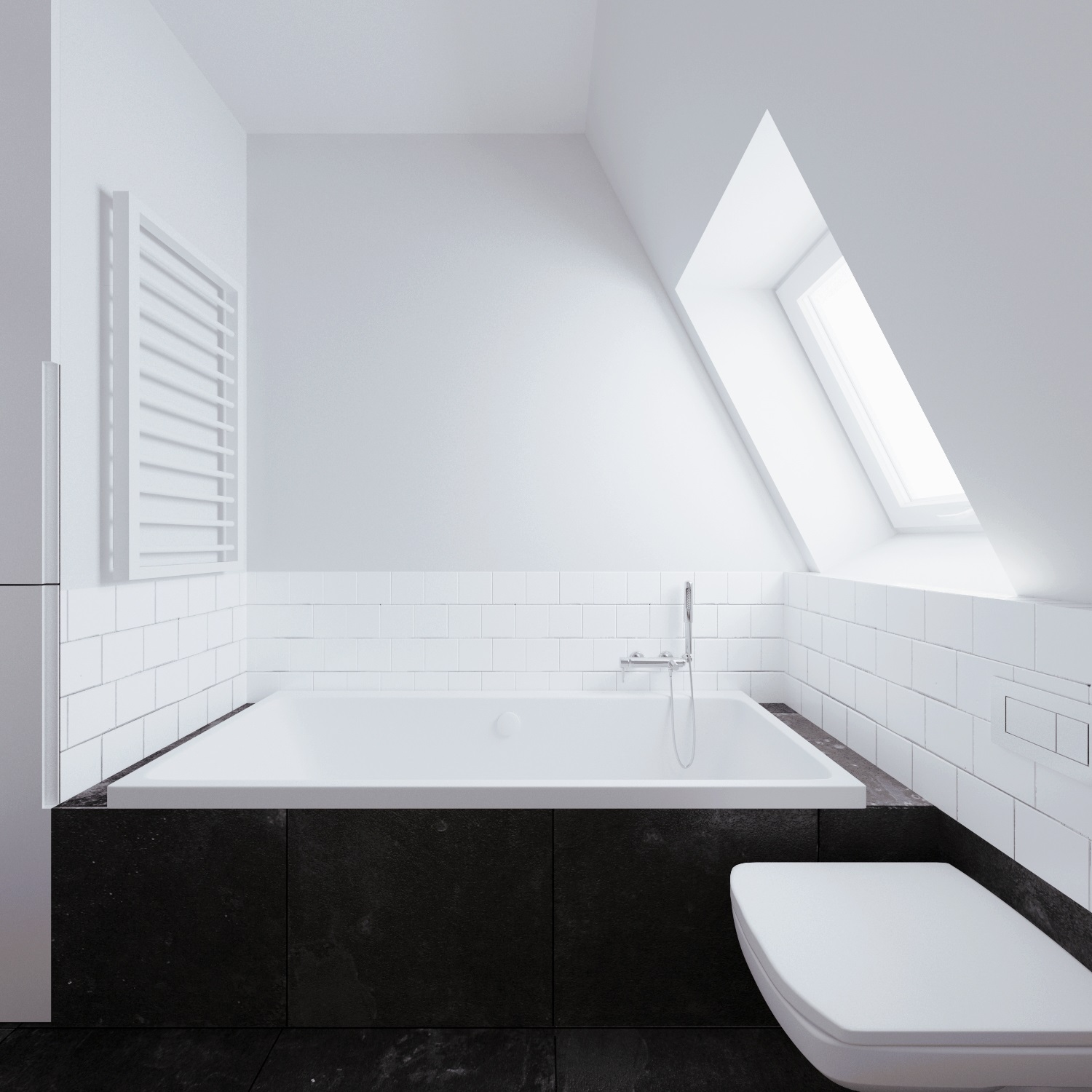 Deep Bathtub - Beautiful attic apartment with clever design features