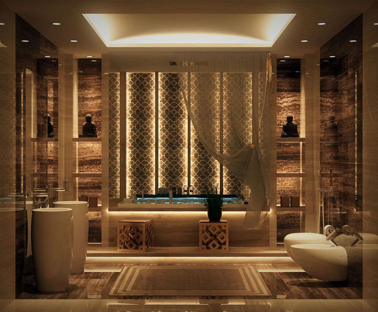 Luxurious bathrooms with stunning design details for Bathroom ideas luxury