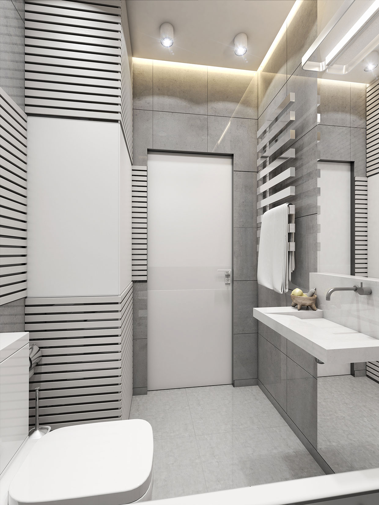 Gray Bathroom Decor - 3 super small homes with floor area under 400 square feet 40 square meter