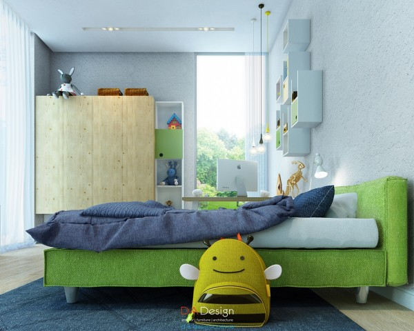 green-kids-room-design