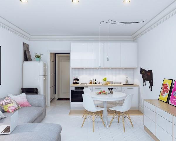 The apartment is just 25 square meters (269 square feet).