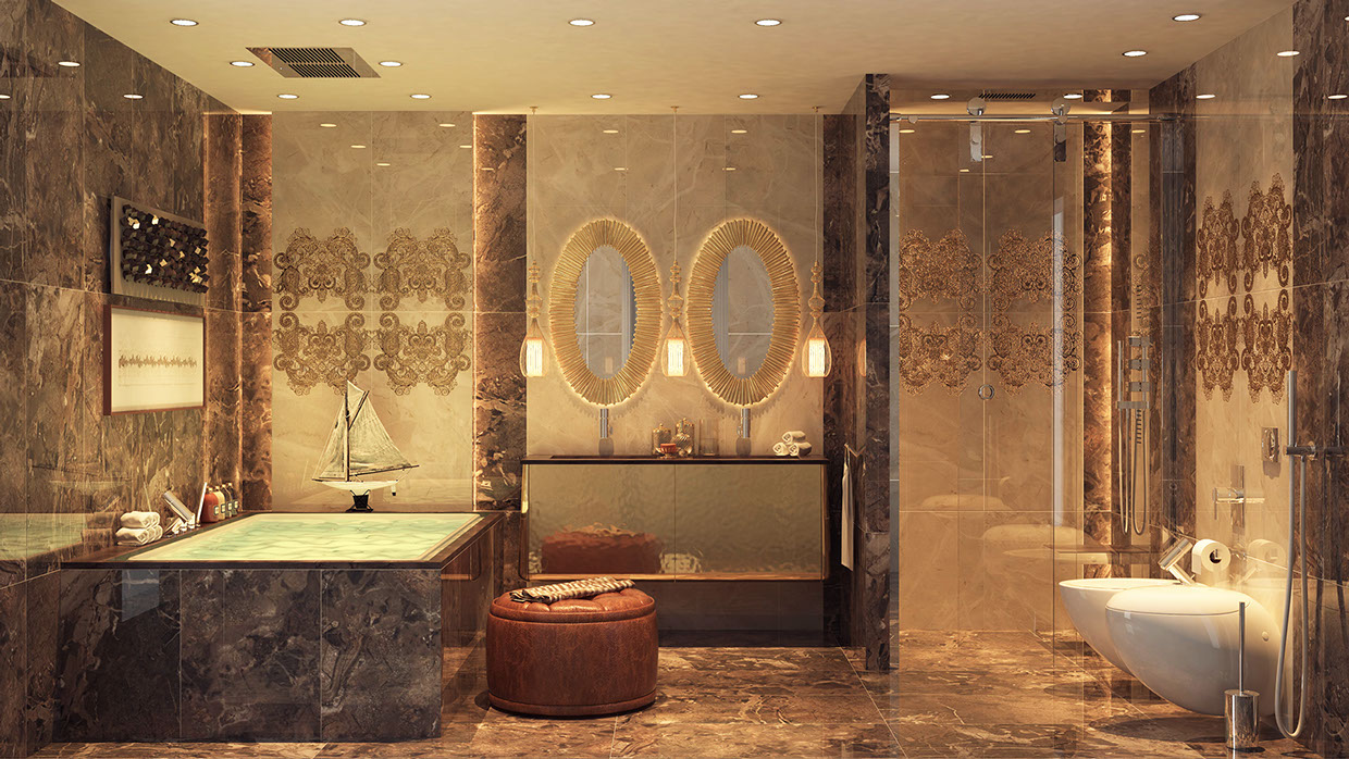 Luxurious bathrooms with stunning design details - Luxury bathroom ...
