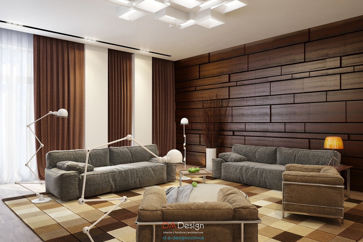Modern Wood Paneling ~ Luxurious modern cottage with rich warm textures