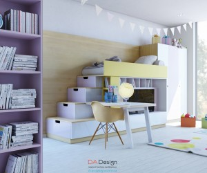 colorful kids room designs with plenty of storage space - Children Bedroom Decorating Ideas