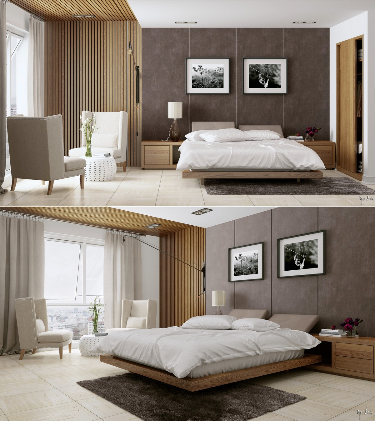 Stylish bedroom designs with beautiful creative details for Contemporary beds