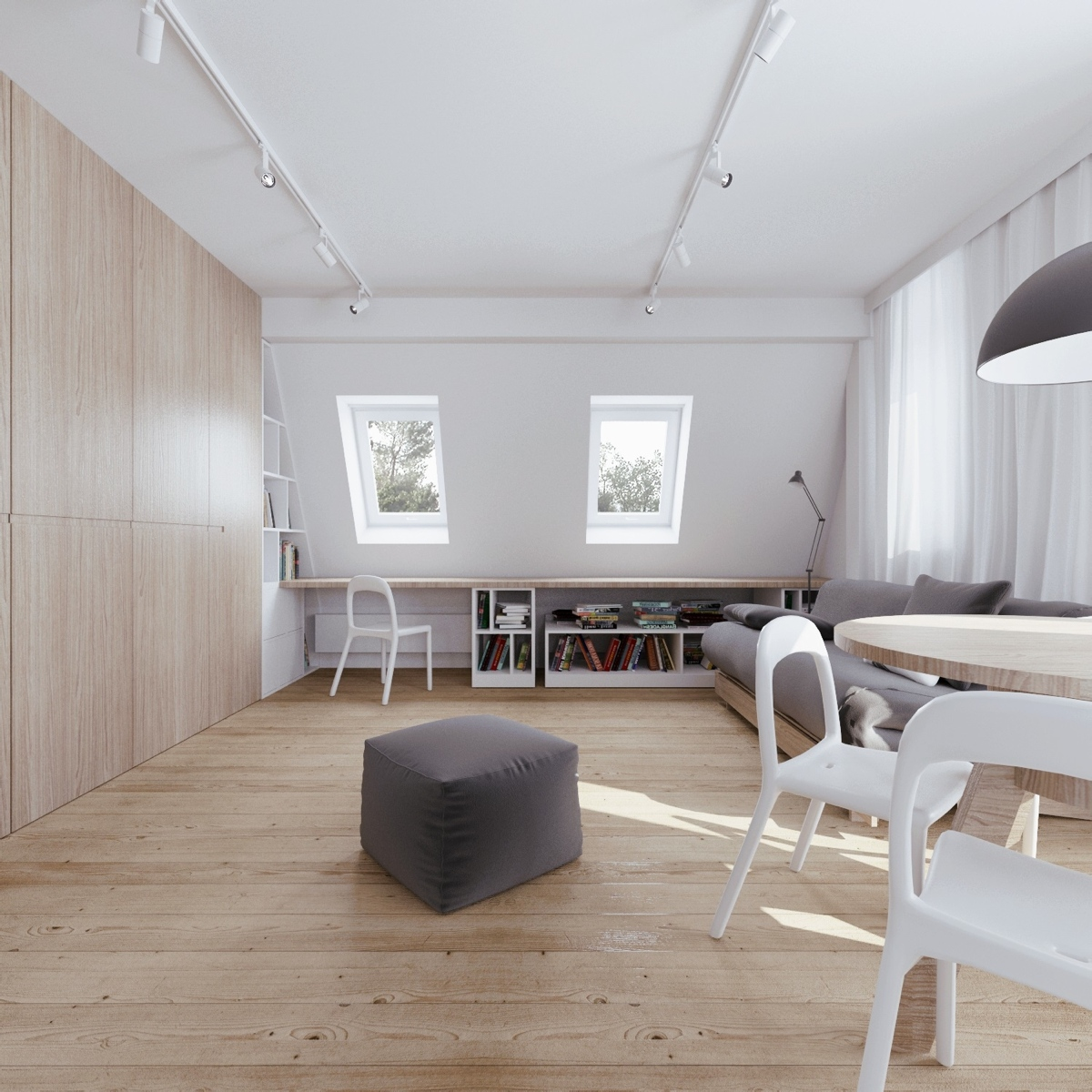 Skylight Design - Beautiful attic apartment with clever design features