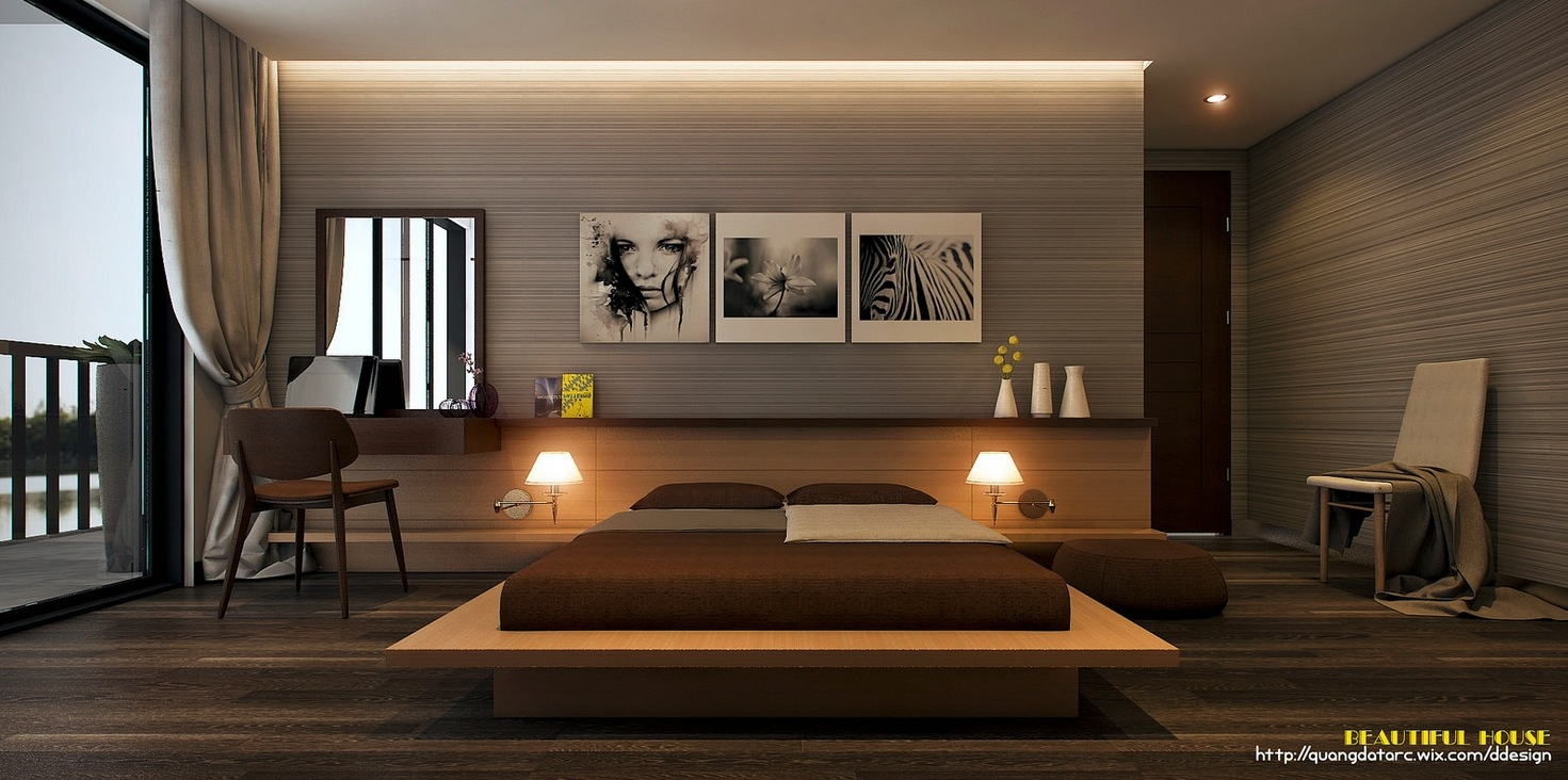 Stylish bedroom designs with beautiful creative details A sleek apartment the divides rooms creatively