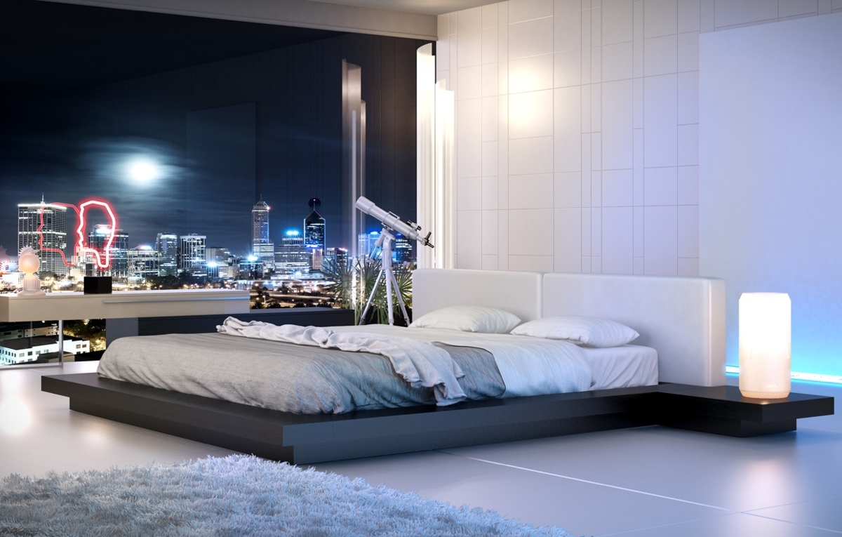 Sleek white bedroom interior design ideas for Clean bedroom pictures