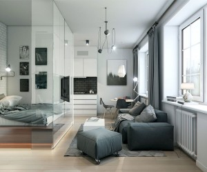 This 32 Square Meter 344 Square Foot Apartment Uses Interior Glass