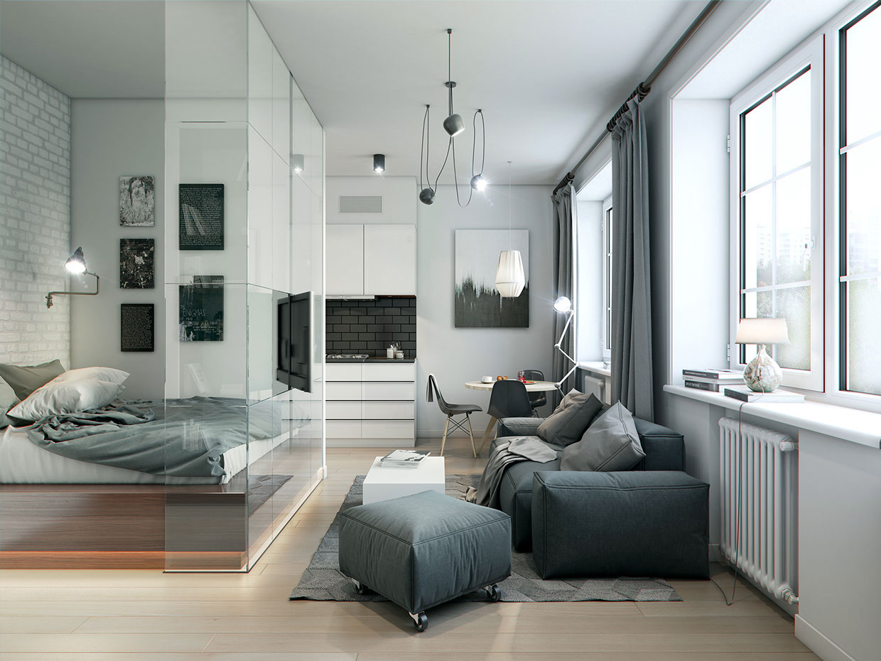 3 super small homes with floor area under 400 square feet for 40m apartment design