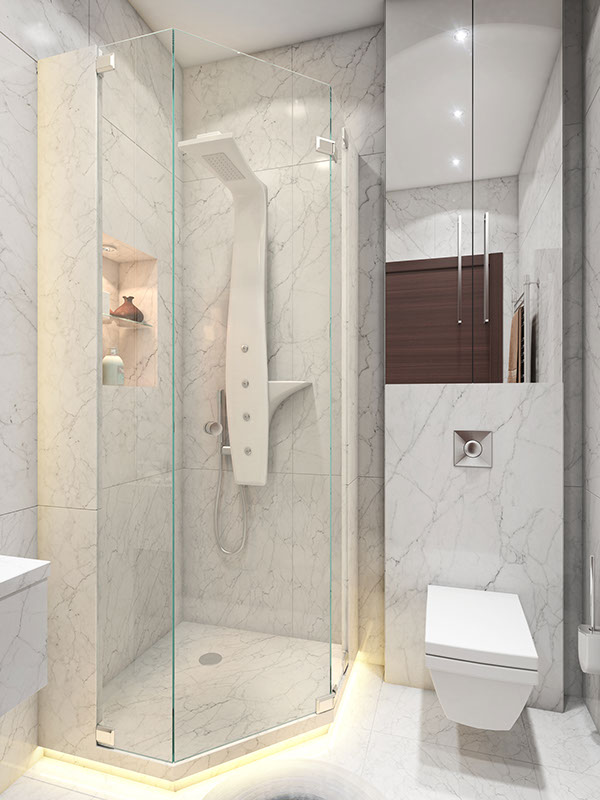 Small Bathroom Ideas - 3 super small homes with floor area under 400 square feet 40 square meter