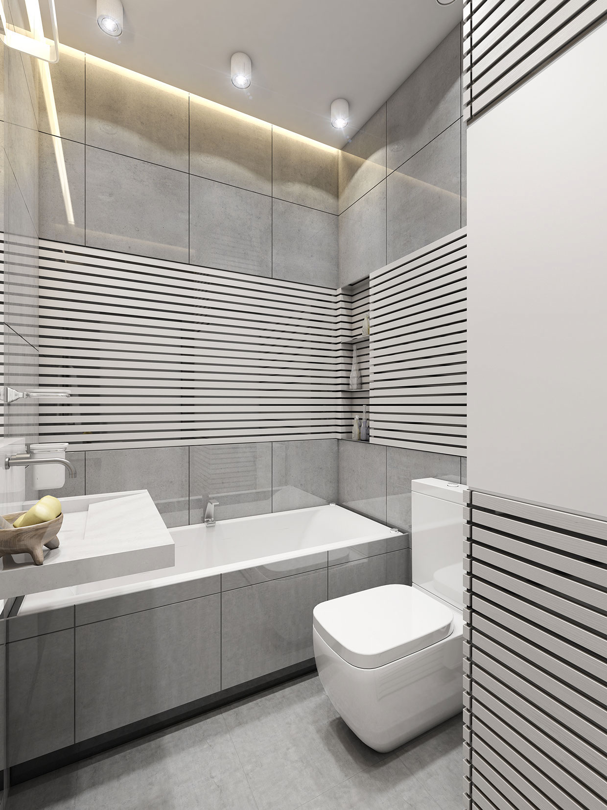 Small Modern Bathroom - 3 super small homes with floor area under 400 square feet 40 square meter