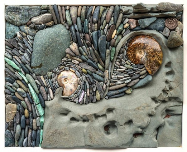 Both stones and shells are largely collected near their home in Vancouver Island, British Columbia.