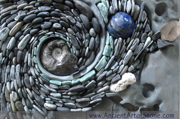 Larger stones, shells, and fossils can add important pops of color and texture.