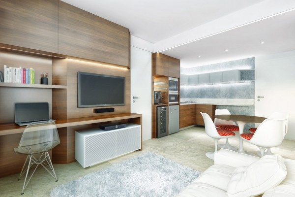 Each of these apartments is a stylish and simple solution to a small space.