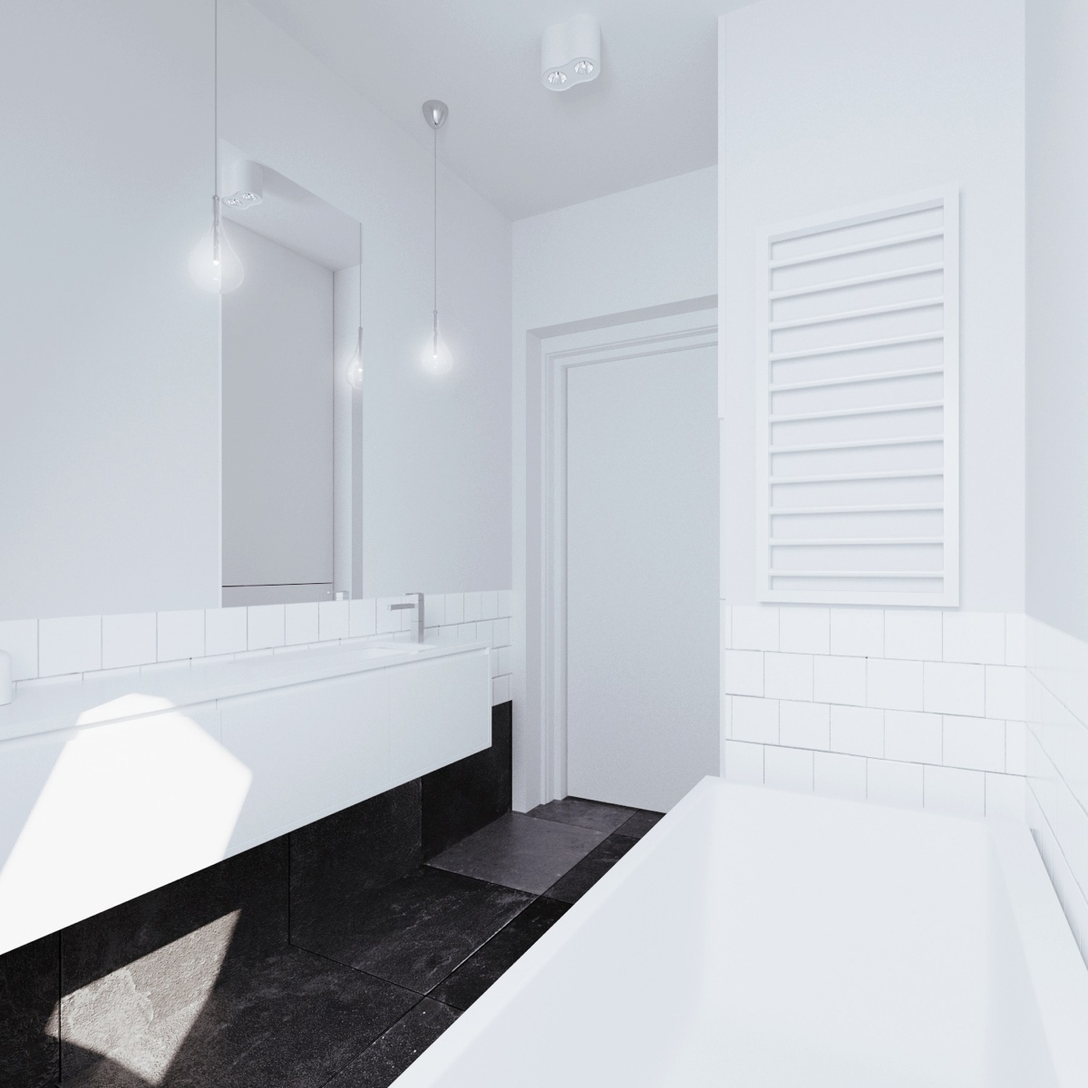 White Bathroom Design - Beautiful attic apartment with clever design features